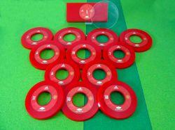 Jogo de botão Argola resinado Manchester United (ING)